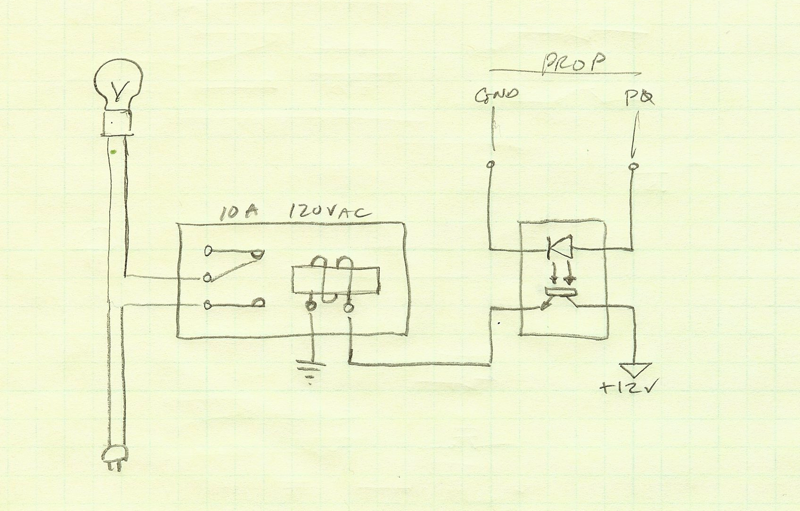 Relay circuit with optocoupler driven by Prop I/O — Parallax Forums